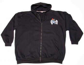 """Hooded Sweat Jacket """"Wings and Roses"""" 4XL"""