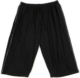 7/8 Bermuda Shorts black with grey Piping 12XL