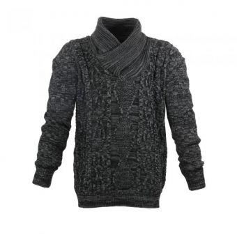Lavecchia knit sweater in black-anthracite