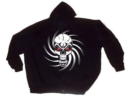 "Hooded Sweat Jacket ""Skull"""