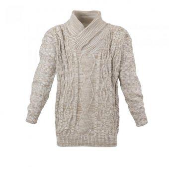 Lavecchia knit sweater in  ecru-beige