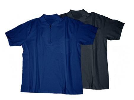 Polo T-Shirt Zip, black and navy