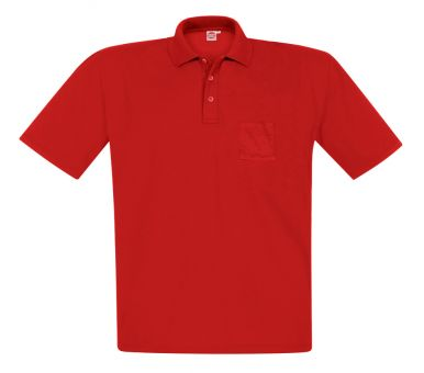 Polo-Pique with chest pocket red