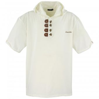 Lavecchia Hooded T-Shirt in Cream-white
