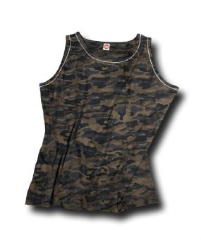 Tank top with camouflage design 5XL