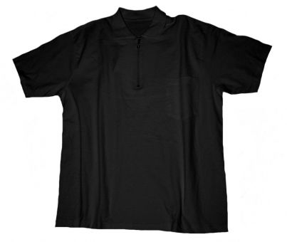 Polo T-shirt with Chest Pocket black