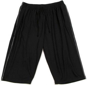 7/8 Bermuda Shorts black with grey Piping