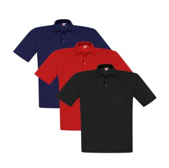 Polo-Pique with pocket Multipack