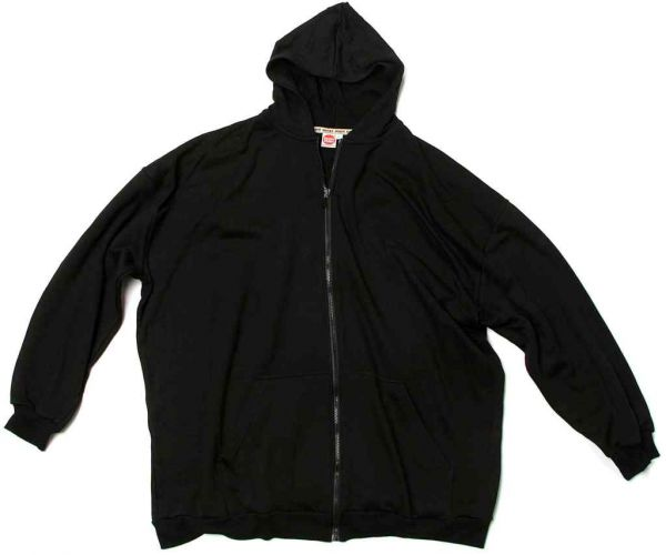 Hooded Sweat jacket black 7XL