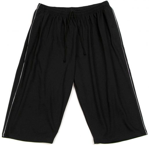 7/8 Bermuda Shorts black with grey Piping 15XL